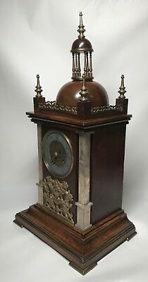 Mid to Late 19th Century Walnut & Brass Bracket Mantel Clock by Planchon. Fusee? 5