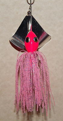 Watermelon//Red Flake -Bass Fishing-NEW Custom Made Head Thumper Buzzbait 1//2 Oz