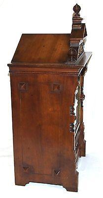 Antique Oak & Brass TING TANG Bracket Mantel Clock : CLEANED & SERVICED (a60) 9