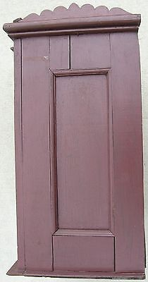18/19 Century Delicate Early American Primitive Hanging Cupboard Red Paint 10
