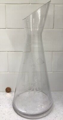 NWT Cypress Home Etched Monogram L Wine Carafe 🍷 34 oz Water Pitcher Decanter 9