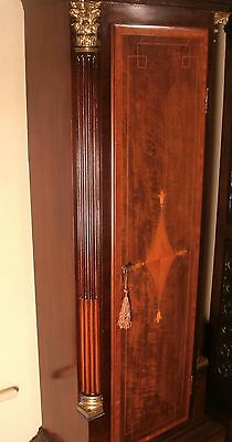 """Antique Mahogany Brass Dial """"Month Duration """" Longcase / Grandfather Clock 2"""
