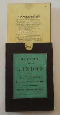 Davies's Map of London and its Environs, 1910, boxed 6