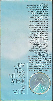 DELTA AIRLINES US Route Map 1981 - $6.00 | PicClick on