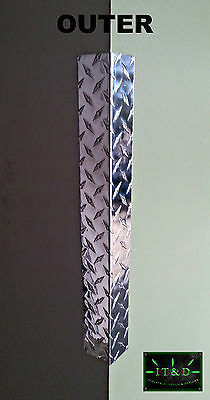 Choose your size Wall Edge Corner Guard Angle .063 Aluminum Diamond Plate