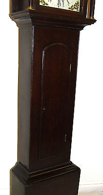 Early Petite Antique Oak Longcase Grandfather Clock 8