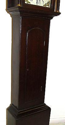 Early Petite Antique Oak Longcase Grandfather Clock 8