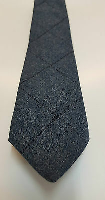 Loden Blue Tweed Tie 100% Pure Wool 4 Dressed Shirt Kilts Sporran 4