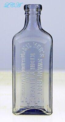 Light amethyst OLD quack Dr Kilmer's SWAMP ROOT medicine bottle LONDON 2