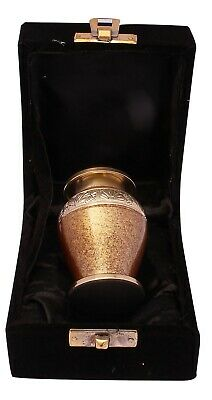 Mini Keepsake Cremation Urn for Ashes Funeral Memorial small urn token urn Brown 2