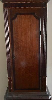 Antique Oak & Mahogany inlaid Longcase Grandfather Clock C Johnson CONGLETON 3