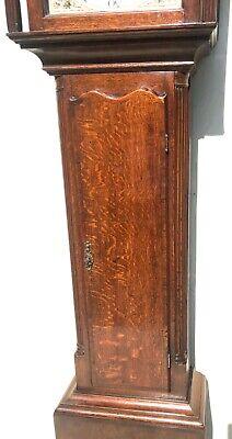 Antique Rolling Moon Phase Oak Mahogany Longcase Grandfather Clock HAYES WREXHAM 9