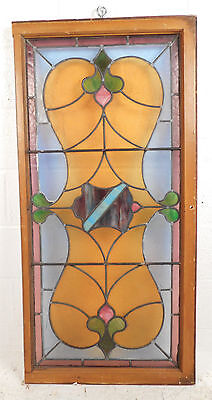 Vintage Stained Glass Window Panel (3089)NJ 3