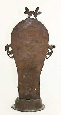 antique 19th C bronze Burial Statue, Bali Java Indonesia or Hindu Deity & Naga 4