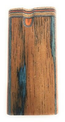 "4"" Colorful Wooden Tobacco Dugout Set with pipe Loaded (3"" Metal One Hitter) 4"