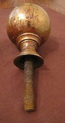 pair set antique heavy bronze Victorian era 1800's door handle knob brass sphere