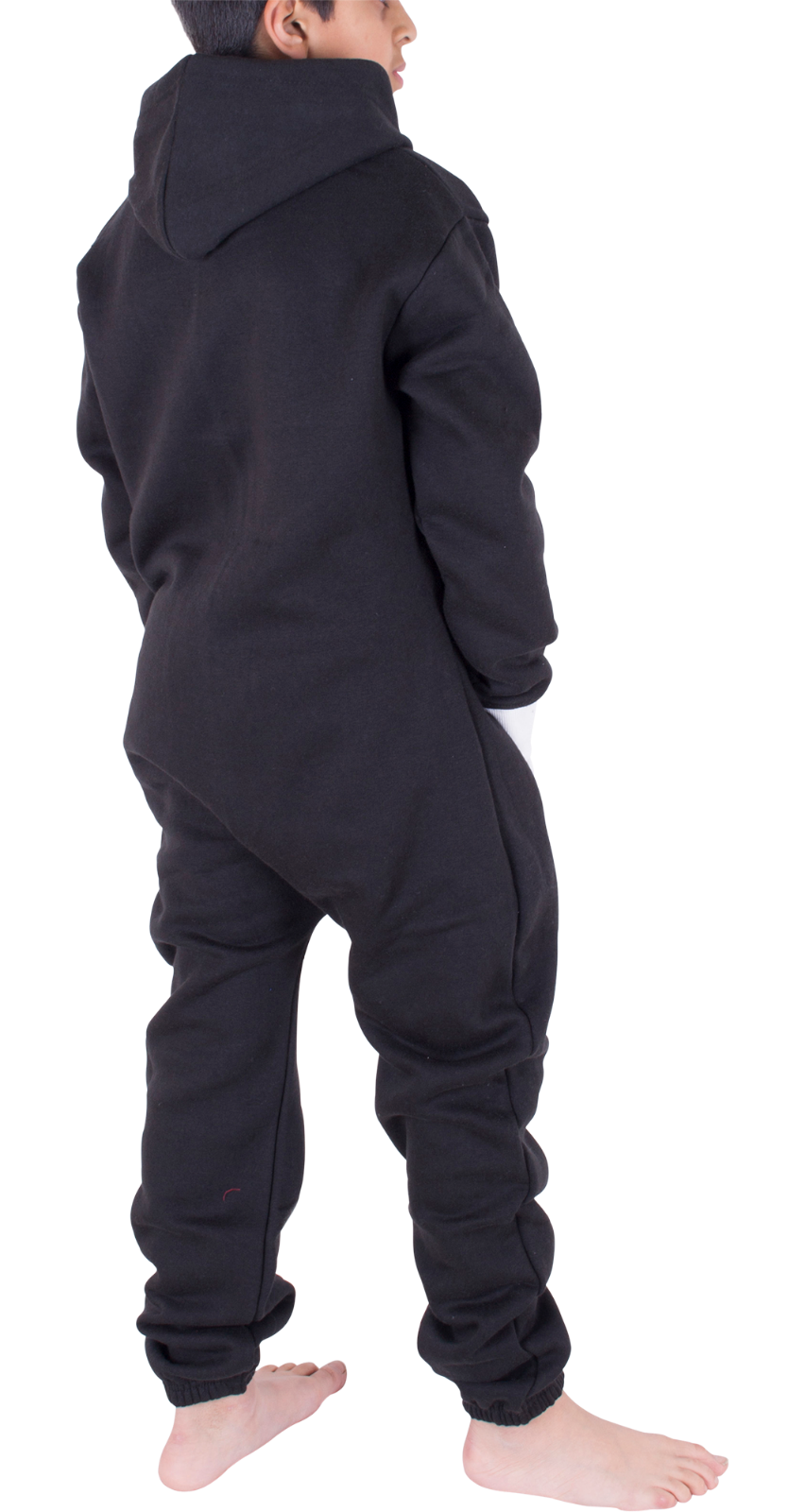 Kids Boys Girls Plain Hooded 1Onesie All in one Jumpsuit Playsuit Sizes 7-13 YRS 4