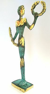 Ancient Greek Bronze Museum Statue Replica Of Olympic Games Winner Collectable 3