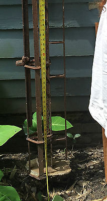 CAST IRON Gate Post ORNATE ARCHITECTURAL ANTIQUE 1850 11