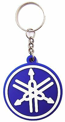 New 2 rubber Yamaha Motorcycle keychain/keyring. Collectible Gift (blue set) 3