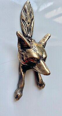 Small FOX front Door Knocker Polished heavy SOLID 100% BRASS B 9