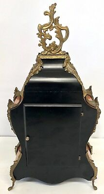 Franz Hermle Inlaid Walnut TING TANG Mantel Bracket Clock Antique Louis XV Style 4