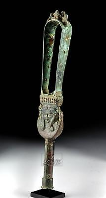 Romano-Egyptian Bonze Sistrum with Cats and Hathor Lot 12