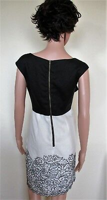 3 sur 4 DERHY Ravissante robe lin chic Noir Blanc T.38 40 NEUVE Valeur 149 eb7a22dd908
