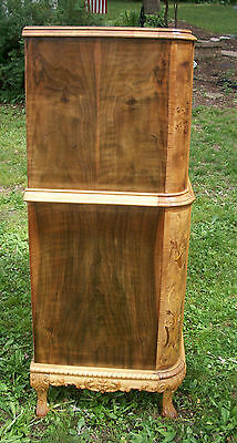 Marquetry Masterpiece Antique Furniture Chest Drawers Dresser French Provincial 6