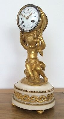 French Ormolu Mantle Clock By Henry Dasson Circa 1870. 11