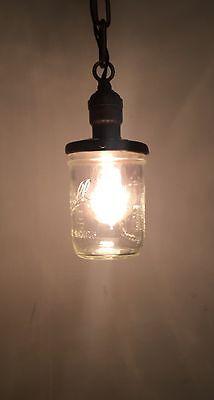 Vintage Pendant Light Antique Fixture Hubbell Socket Ball Mason Jar 5