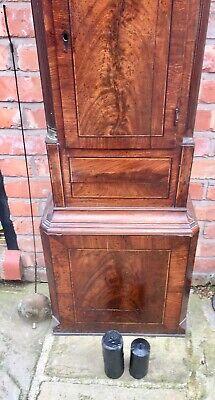 Antique Georgian Oak  Mahogany Longcase Grandfather Clock S Brill Birmingham 4