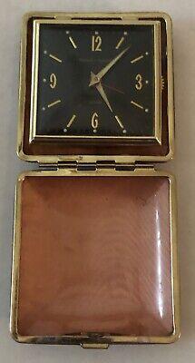 Vintage Phinney Walker Black Dial & New Seth Thomas Travel Alarm Clocks-Estate 8