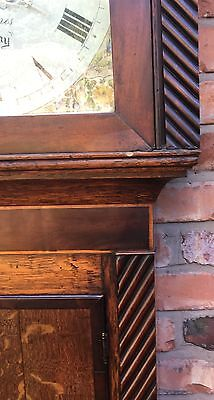 Oak And Mahogany Cross Banded Longcase /grandfather Clock With Rolling Moon 5