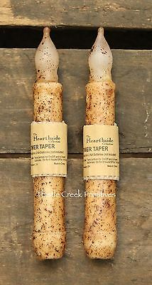 """Set of TWO - LED Burnt Ivory 6"""" - 6.5"""" TIMER Battery Operated Taper Candles 4"""