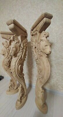 """38"""" Wooden stairs Baluster Newel, oak carved  gryphon statue, decorative element 3"""