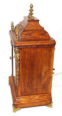 # Antique Oak & Ormolu TING TANG Bracket Mantel Clock : Winterhalder W & H (a27) 7