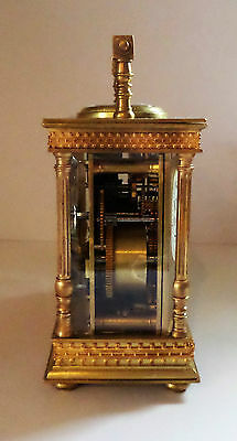 Antique French Double Carriage Clock Barometer / Alarm  / Compass Set 8