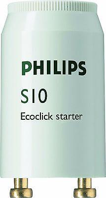 5x PHILIPS S10 Starter Leuchtstoffröhre 4-65 W Leuchtstofflampe Neonröhre Zünder