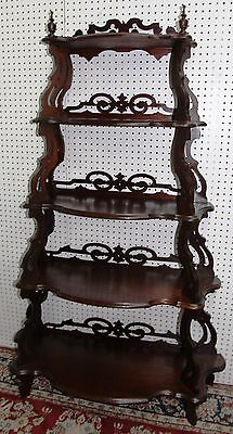Antique American Carved Walnut Five Tier Waterfall Entry Etagere Hand Circa 1800 6