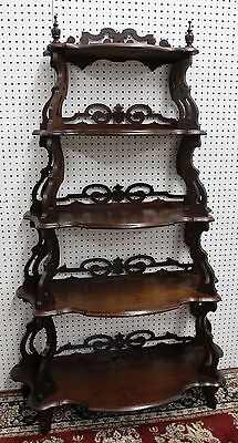 Antique American Carved Walnut Five Tier Waterfall Entry Etagere Hand Circa 1800 12