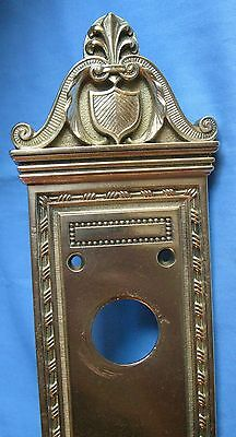 Antique Entrance Backplate 1(One) Solid Cast Brass Industrial Commercial Banks