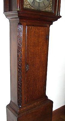 Antique 8 Day Oak Longcase Grandfather Clock Atkinson of GATESHEAD : Centre Date 7