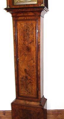 ~ RARE MONTH GOING Antique Walnut  Longcase Grandfather Clock Etherington LONDON 6