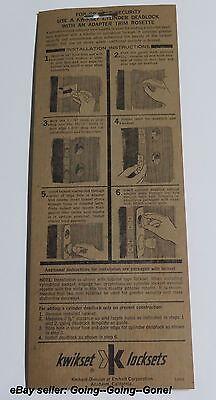 VINTAGE 1960's KWIKSET DECORATIVE TRIM PLATE ROSETTE ESCUTCHEON BEAUTIFUL! #263 3