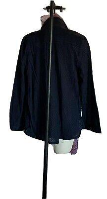 $120 New XL Skin sheer  long 100% cotton shirt top blouse 3 UK XL navy blue 4