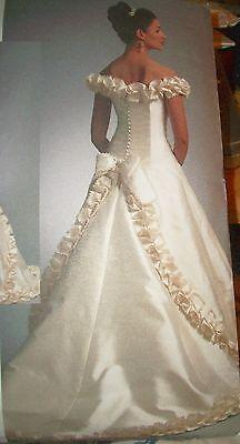 Ms Vogue 1095 Pattern Sassoon Full Wedding Dress Gown UNCUT Size 12-14-16 2
