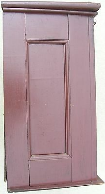 18/19 Century Delicate Early American Primitive Hanging Cupboard Red Paint 11