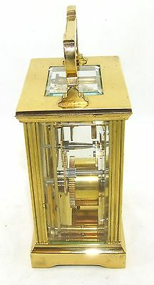 MAPPIN & WEBB Brass Carriage Mantel Clock Timepiece with Key  Working Order (54) 6