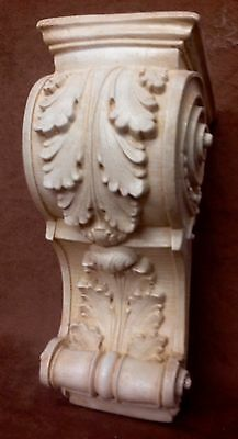 Pair Shelf Acanthus leaf Wall Corbel Sconce Bracket Architectural Accent 8